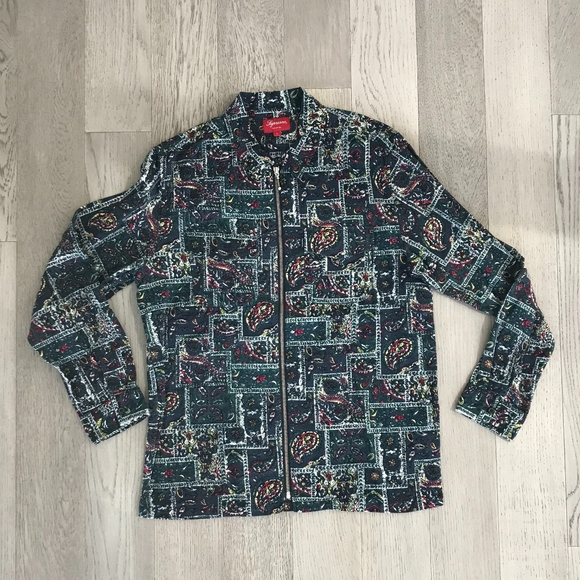 08cd8b0971a6 Supreme Shirts | Broken Paisley Flannel Shirt L | Poshmark